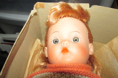 Vintage Rubber Girl Doll with Clothes circa 1950 (?) With Box