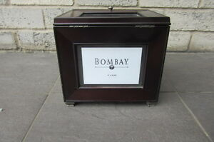 Bombay Wood Photo Storage and Display Case