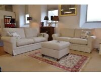 NEW JOHN LEWIS STRIPED 2 X 2 SOFAS CAN DELIVER FREEE
