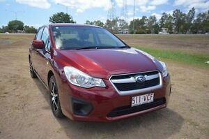 2012 Subaru Impreza G4 MY12 2.0i Lineartronic AWD Red 6 Speed Constant Variable Sedan Vincent Townsville City Preview