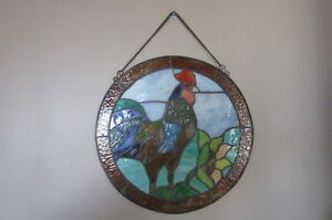 Stain Glass Roster Wall or Window Hanging