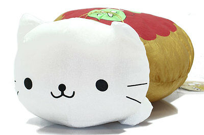 "San-X Nyanko Cat 14"" SPECIAL Nyanco Hot Dog Food Plush White New Doll Soft RARE!"