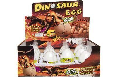 6 x Dinosaurier Ei Dino Ei Dinoei Dinosaurierei wachsender schlüpfender Dino