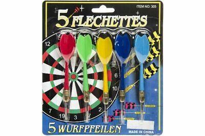 15x Dart Pfeile Dartpfeile Wurfpfeile Spikerpfeile 5 Farben mit Metallspitze TOP