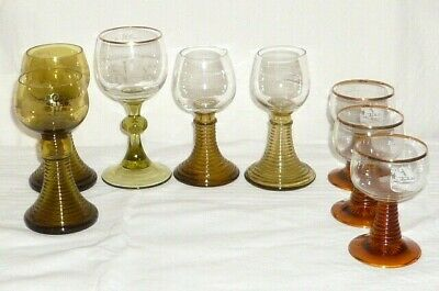 6 vieux verres de vin romain a traubenklötze theresienthal ?