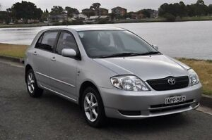 2003 Toyota Corolla ZZE122R Conquest Seca Silver 4 Speed Automatic Hatchback Croydon Burwood Area Preview