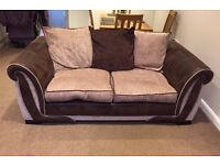 Brown and Beige Sofa Excellent condition
