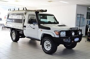 2013 Toyota Landcruiser VDJ79R MY12 Update GX (4x4) White 5 Speed Manual Cab Chassis Morley Bayswater Area Preview