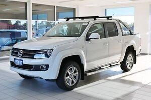 2012 Volkswagen Amarok 2H MY12.5 TDI420 Highline (4x4) White 8 Speed Automatic Dual Cab Utility Morley Bayswater Area Preview