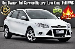 2013 Ford Focus LW MKII Trend PwrShift White 6 Speed Sports Automatic Dual Clutch Hatchback Ringwood East Maroondah Area Preview