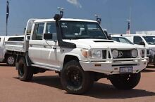 2013 Toyota Landcruiser VDJ79R MY13 Workmate Double Cab White 5 Speed Manual Cab Chassis Balcatta Stirling Area Preview
