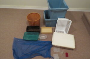 Bins, containers, and baskets