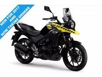 2017 SUZUKI DL 250 V-STROM, PEARL NUCLEAR BLACK/SOLID DAZZLING COOL YELLOW, COMI