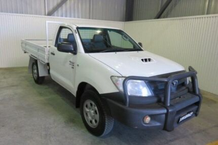 2009 Toyota Hilux KUN26R MY09 SR White 5 Speed Manual Cab Chassis Orange Area Preview