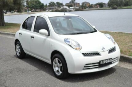 2009 Nissan Micra K12 City Collection White 4 Speed Automatic Hatchback
