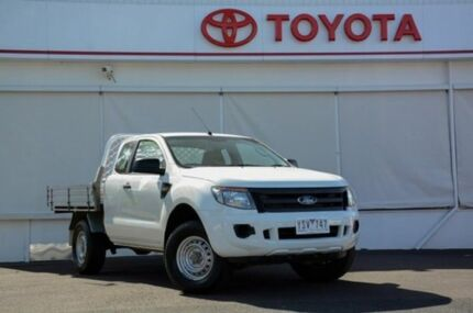2011 Ford Ranger PX XL Double Cab 4x2 Hi-Rider White 6 Speed Auto Seq Sportshift Cab Chassis Upper Ferntree Gully Knox Area Preview