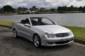 2007 Mercedes-Benz CLK350 C209 MY06 Avantgarde Silver 7 Speed Automatic G-Tronic Cabriolet Croydon Burwood Area Preview