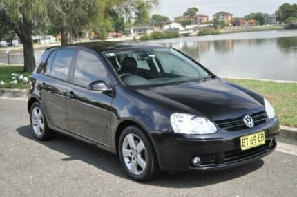 2008 Volkswagen Golf 1K MY08 Upgrade 2 2.0 FSI Pacific Black 6 Speed Manual Hatchback