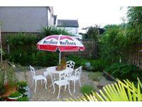 Garden Sun Parasol with originl Malboro design - Ideal for summer events