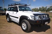 2003 Nissan Patrol GU III MY2003 ST White 5 Speed Manual Wagon Vincent Townsville City Preview