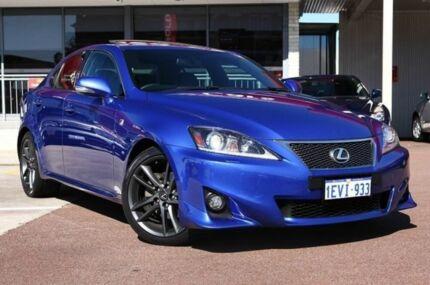 2011 Lexus IS250 GSE20R MY11 F Sport Flame Blue 6 Speed Auto Seq Sportshift Sedan Northbridge Perth City Preview