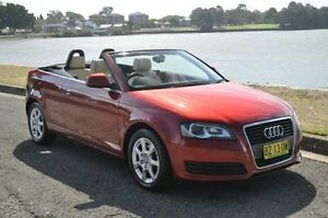 2008 Audi A3 8P 1.8 TFSI Attraction Burgundy 6 Speed Direct Shift Cabriolet Croydon Burwood Area Preview