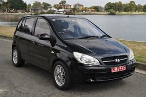 2006 Hyundai Getz TB Upgrade 1.6 Black 4 Speed Automatic Hatchback Croydon Burwood Area Preview