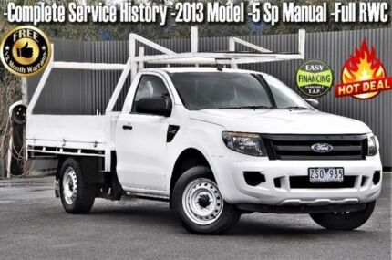 2013 Ford Ranger PX XL 4x2 White 5 Speed Manual Cab Chassis Ringwood East Maroondah Area Preview