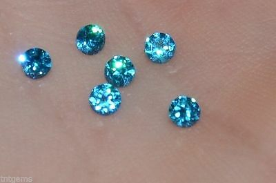 ***Flawless***3mm IF Brilliant Cut Simulated  Blue Diamond
