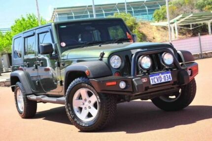 2008 Jeep Wrangler JK MY2008 Unlimited Sport Green 4 Speed Automatic Softtop Glendalough Stirling Area Preview