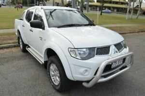 2013 Mitsubishi Triton MN MY13 GL-R Double Cab White 5 Speed Manual Utility Rockhampton Rockhampton City Preview