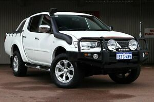 2012 Mitsubishi Triton MN MY13 GLX-R Double Cab White 5 Speed Manual Utility Northbridge Perth City Area Preview