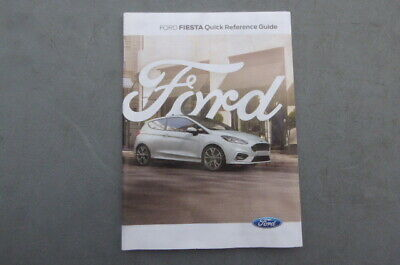 FORD FIESTA 2017-2019 HANDBOOK OWNERS MANUAL QUICK REFERENCE GUIDE ONLY