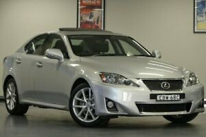 2012 Lexus IS250 GSE20R MY13 Prestige Silver Semi Auto Sedan Chatswood Willoughby Area Preview