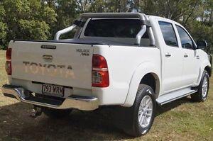 2013 Toyota Hilux KUN26R MY12 SR5 Double Cab White 4 Speed Automatic Utility Bundaberg West Bundaberg City Preview