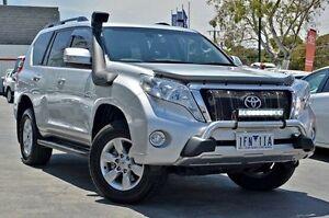 2015 Toyota Landcruiser Prado KDJ150R MY14 GXL Silver 5 Speed Sports Automatic Wagon Frankston Frankston Area Preview