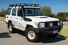 2012 Toyota Landcruiser VDJ76R MY10 Workmate French Vanilla 5 Speed Manual Wagon Mindarie Wanneroo Area Preview