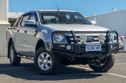 2014 Ford Ranger PX XLS Double Cab Silver 6 Speed Sports Automatic Utility
