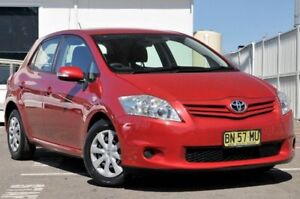 2010 Toyota Corolla ZRE152R MY10 Ascent Red 4 Speed Automatic Hatchback Gosford Gosford Area Preview