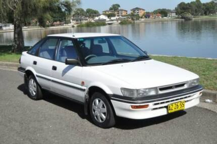 1992 Toyota Corolla AE94 CSi White 4 Speed Automatic Hatchback