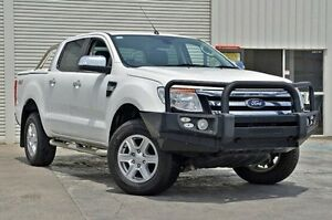 2013 Ford Ranger PX XLT Double Cab White 6 Speed Sports Automatic Utility Seaford Frankston Area Preview