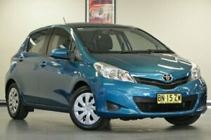 2012 Toyota Yaris NCP131R YRS Turquoise Automatic Hatchback Chatswood Willoughby Area Preview