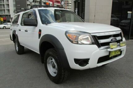 2010 Ford Ranger PK XL (4x4) White 5 Speed Manual Dual Cab Pick-up North Strathfield Canada Bay Area Preview