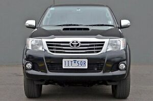 2014 Toyota Hilux KUN26R MY14 SR5 Double Cab Black 5 Speed Automatic Utility Cranbourne Casey Area Preview