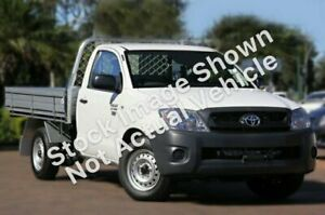 2011 Toyota Hilux TGN16R MY10 Workmate 4x2 White 5 Speed Manual Cab Chassis Glendale Lake Macquarie Area Preview