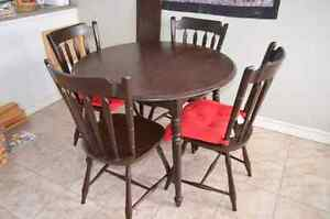 Dining set (table and four chairs)
