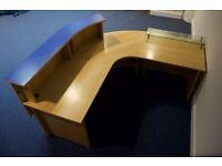 Semi Circular Reception Desk with Glass