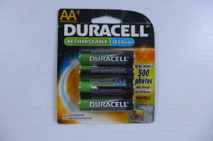 Duracell AA Rechargeable 2650mAH Battery NiMH