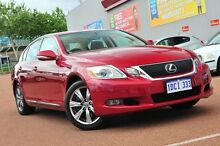 2008 Lexus GS300 GRS190R MY08 Sports Luxury Matador Red 6 Speed Sports Automatic Sedan Glendalough Stirling Area Preview