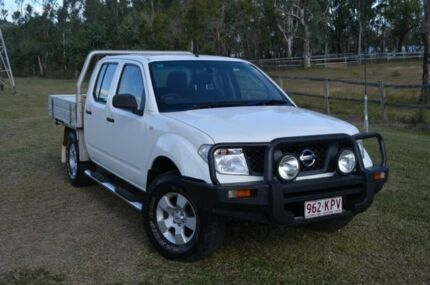 2007 Nissan Navara D40 RX White 5 Speed Automatic Dual Cab Berserker Rockhampton City Preview
